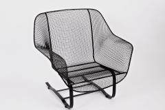 Russell Woodard Woodard Furniture Russell Woodard Black Sculptura Spring Lounge Armchair 1950s - 1599479