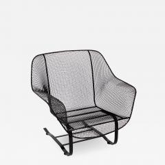 Russell Woodard Woodard Furniture Russell Woodard Black Sculptura Spring Lounge Armchair 1950s - 1601820