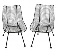 Russell Woodard Woodard Furniture Set of 4 Russell Woodard Original Black Sculptura Dining Side Chairs - 1983026