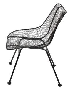 Russell Woodard Woodard Furniture Set of 4 Russell Woodard Original Black Sculptura Dining Side Chairs - 1983027