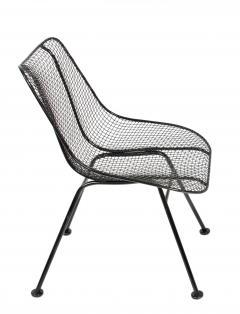 Russell Woodard Woodard Furniture Set of 4 Russell Woodard Original Black Sculptura Dining Side Chairs - 1983028
