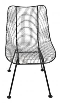 Russell Woodard Woodard Furniture Set of 4 Russell Woodard Original Black Sculptura Dining Side Chairs - 1983029
