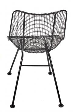 Russell Woodard Woodard Furniture Set of 4 Russell Woodard Original Black Sculptura Dining Side Chairs - 1983030