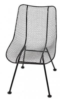 Russell Woodard Woodard Furniture Set of 4 Russell Woodard Original Black Sculptura Dining Side Chairs - 1983031