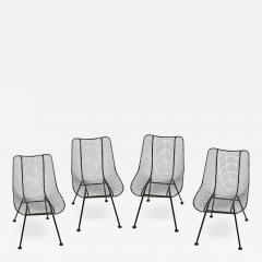 Russell Woodard Woodard Furniture Set of 4 Russell Woodard Original Black Sculptura Dining Side Chairs - 1985753