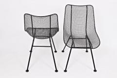 Russell Woodard Woodard Furniture Set of 4 of Russell Woodard Black Wrought Iron Sculptura Dining Side Chairs - 1583434