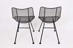 Russell Woodard Woodard Furniture Set of 4 of Russell Woodard Black Wrought Iron Sculptura Dining Side Chairs - 1583437