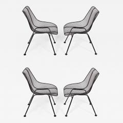 Russell Woodard Woodard Furniture Set of 4 of Russell Woodard Black Wrought Iron Sculptura Dining Side Chairs - 1784548