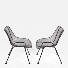 Russell Woodard Woodard Furniture Set of 4 of Russell Woodard Black Wrought Iron Sculptura Dining Side Chairs - 1784549