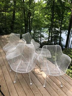 Russell Woodard Woodard Furniture Set of 6 Mid Century Modern Wire Mesh Sculptura Dining Chairs by Russell Woodard - 1736682