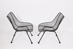 Russell Woodard Woodard Furniture Set of Four Russell Woodard Sculptura Black Lanai Side Chairs 1950s - 1583425