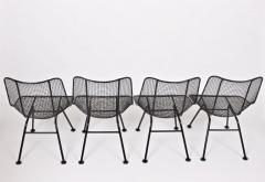Russell Woodard Woodard Furniture Set of Four Russell Woodard Sculptura Black Lanai Side Chairs 1950s - 1583427