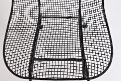 Russell Woodard Woodard Furniture Set of Four Russell Woodard Sculptura Black Lanai Side Chairs 1950s - 1583429