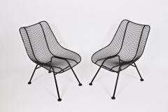 Russell Woodard Woodard Furniture Set of Four Russell Woodard Sculptura Black Lanai Side Chairs 1950s - 1583438