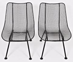 Russell Woodard Woodard Furniture Set of Four Russell Woodard Sculptura Black Lanai Side Chairs 1950s - 1583439