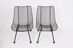 Russell Woodard Woodard Furniture Set of Four Russell Woodard Sculptura Black Lanai Side Chairs 1950s - 1583440