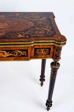 Russian 19th Century Marquetry Game Table 1820 - 1636878