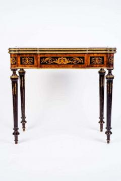 Russian 19th Century Marquetry Game Table 1820 - 1636893