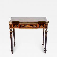 Russian 19th Century Marquetry Game Table 1820 - 1637704