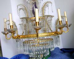 Russian Bronze and Crystals Chandelier - 657295