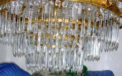 Russian Bronze and Crystals Chandelier - 657296