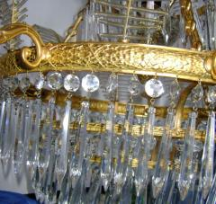 Russian Bronze and Crystals Chandelier - 657297