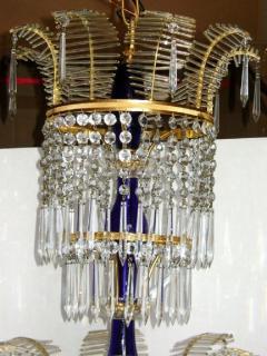 Russian Bronze and Crystals Chandelier - 657301