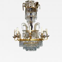 Russian Bronze and Crystals Chandelier - 657615