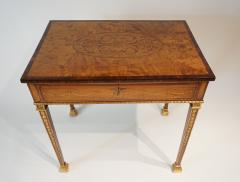 Russian Neoclassical Parcel Gilt Satinwood and Marquetry Side Table circa 1785 - 789527