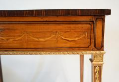 Russian Neoclassical Parcel Gilt Satinwood and Marquetry Side Table circa 1785 - 789529