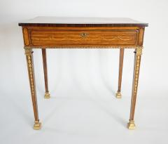 Russian Neoclassical Parcel Gilt Satinwood and Marquetry Side Table circa 1785 - 789532