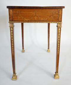 Russian Neoclassical Parcel Gilt Satinwood and Marquetry Side Table circa 1785 - 789536