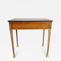 Russian Neoclassical Parcel Gilt Satinwood and Marquetry Side Table circa 1785 - 790944