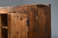 Rustic Art Populaire Folk art storage piece from the Auvergne France 1800s - 2052344
