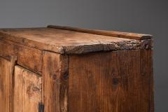 Rustic Art Populaire Folk art storage piece from the Auvergne France 1800s - 2052345
