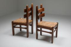 Rustic Modern Oak and Cord Chairs 1930s - 1421022
