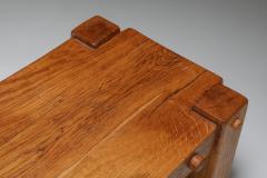 Rustic Modern Rectangular Coffee Table in Solid Oak 1960s - 1421031