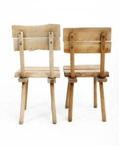 Rustic Wooden Dining Chair Four Available  - 1337323
