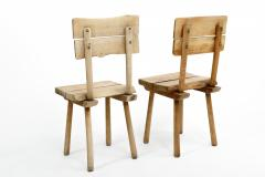Rustic Wooden Dining Chair Four Available  - 1337326