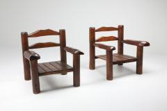 Rustic Wooden Wabi Sabi Lounge Chairs 1950s - 1248827