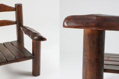 Rustic Wooden Wabi Sabi Lounge Chairs 1950s - 1248834