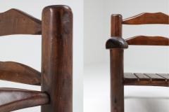 Rustic Wooden Wabi Sabi Lounge Chairs 1950s - 1248835
