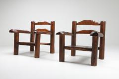 Rustic Wooden Wabi Sabi Lounge Chairs 1950s - 1248836