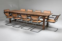 Rustic modern refactory oak dining table 1800s - 1480874
