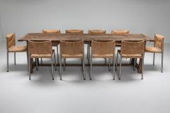 Rustic modern refactory oak dining table 1800s - 1480875