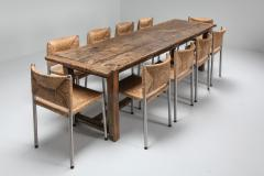 Rustic modern refactory oak dining table 1800s - 1480876