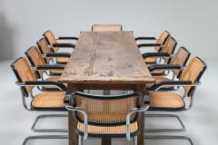 Rustic modern refactory oak dining table 1800s - 1480877