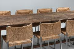 Rustic modern refactory oak dining table 1800s - 1480880