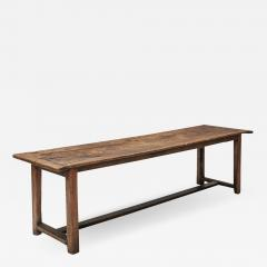 Rustic modern refactory oak dining table 1800s - 1483493