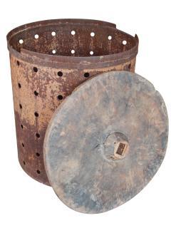 Rusty Metal Drum Table - 1017485